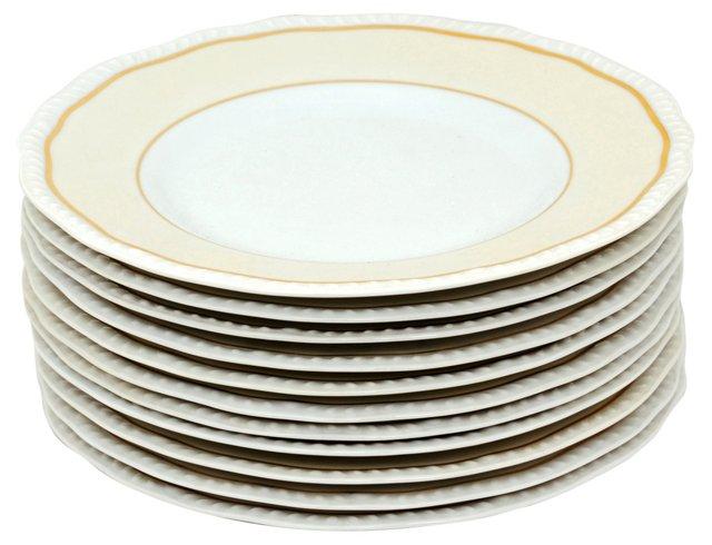 Antique Limoges Salad Plates, Set of 11