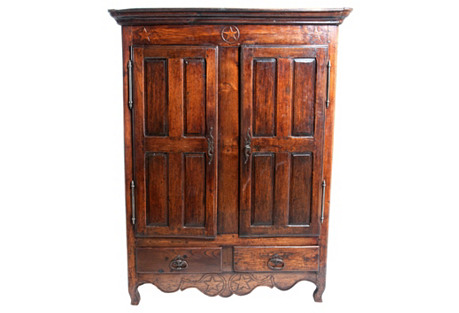European Star Armoire, C. 1800