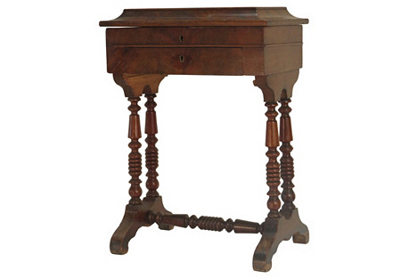 Antique Work Table, c. 1850