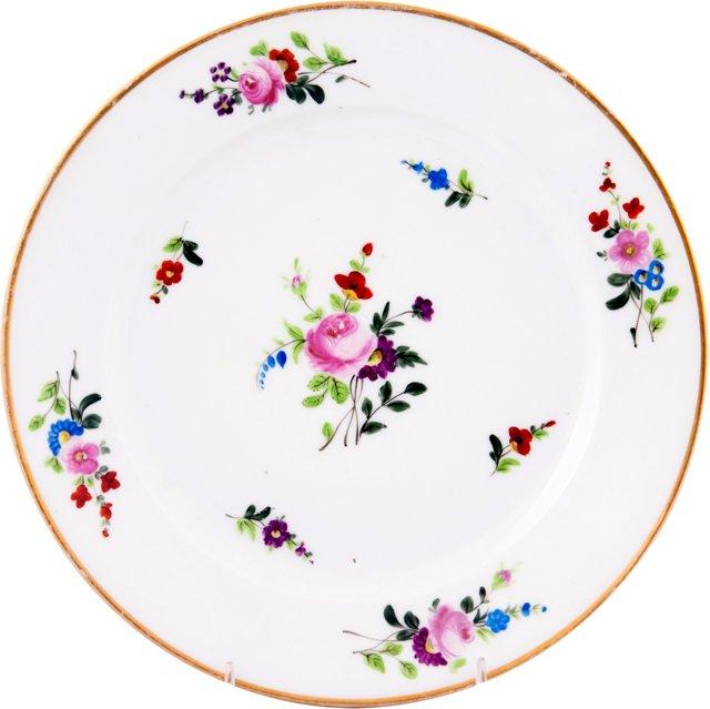 Antique Floral Plate