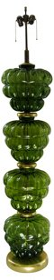 Murano Green Glass Floor Lamp