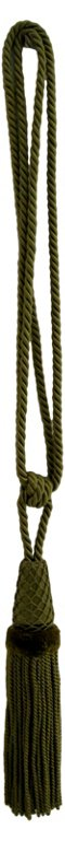 Olive Silk Tassel Tie-Back