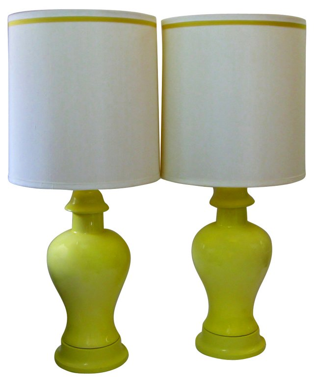 Yellow Lamps, Pair