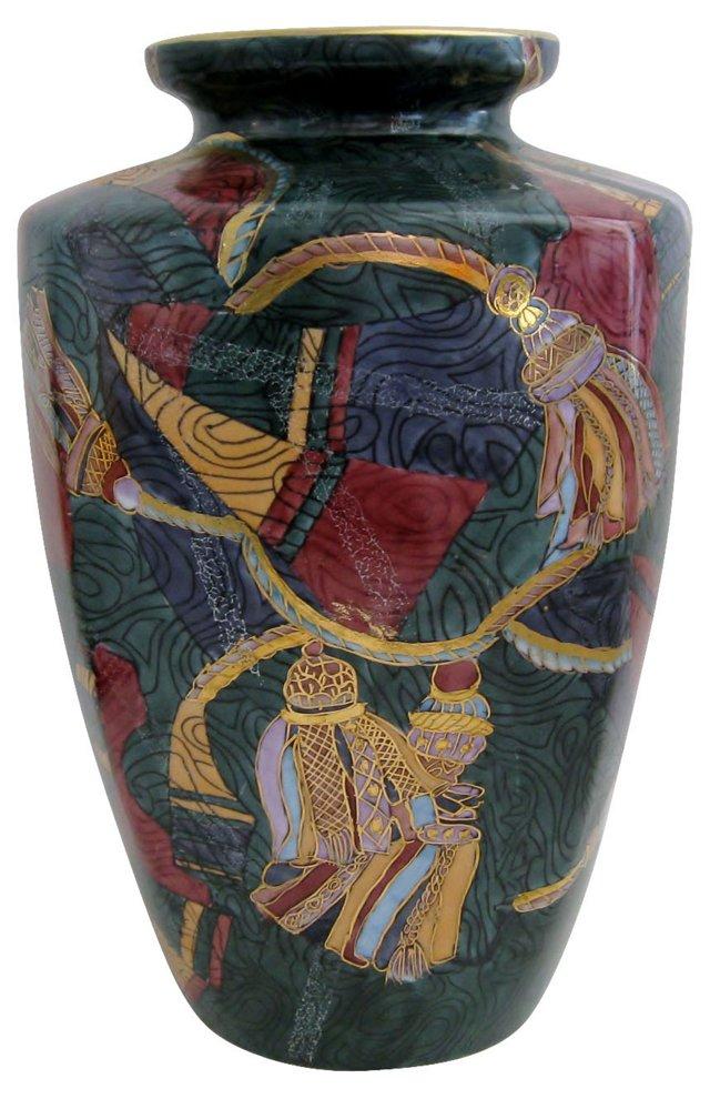 Jewel-Toned Porcelain Vase