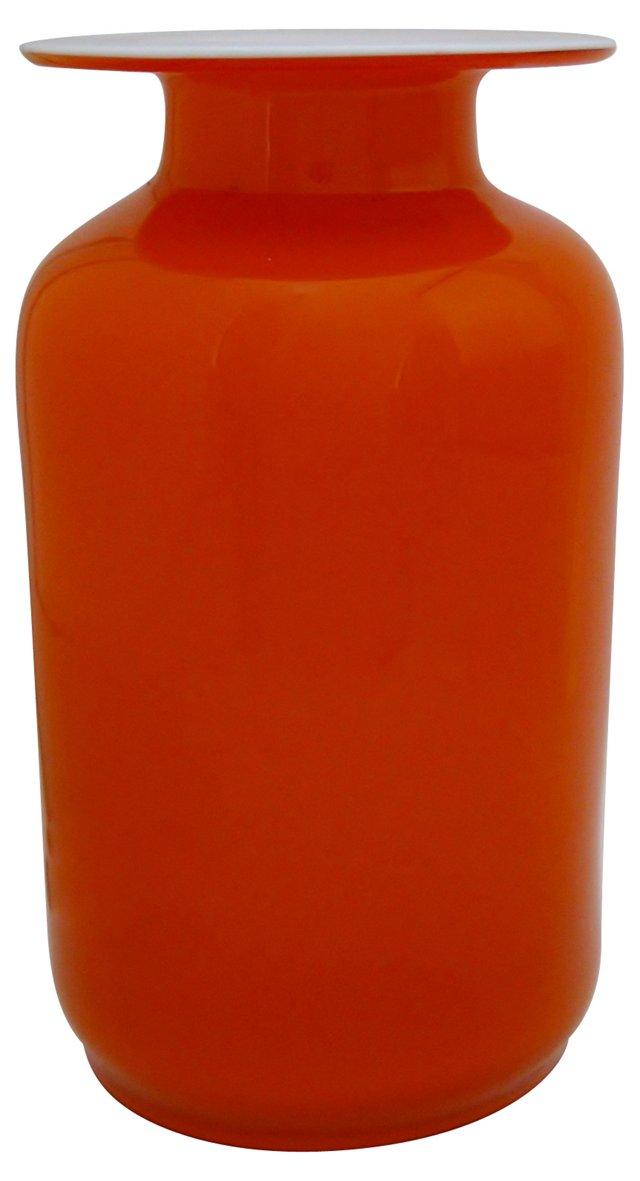 Holmegaard Orange Glass Vase