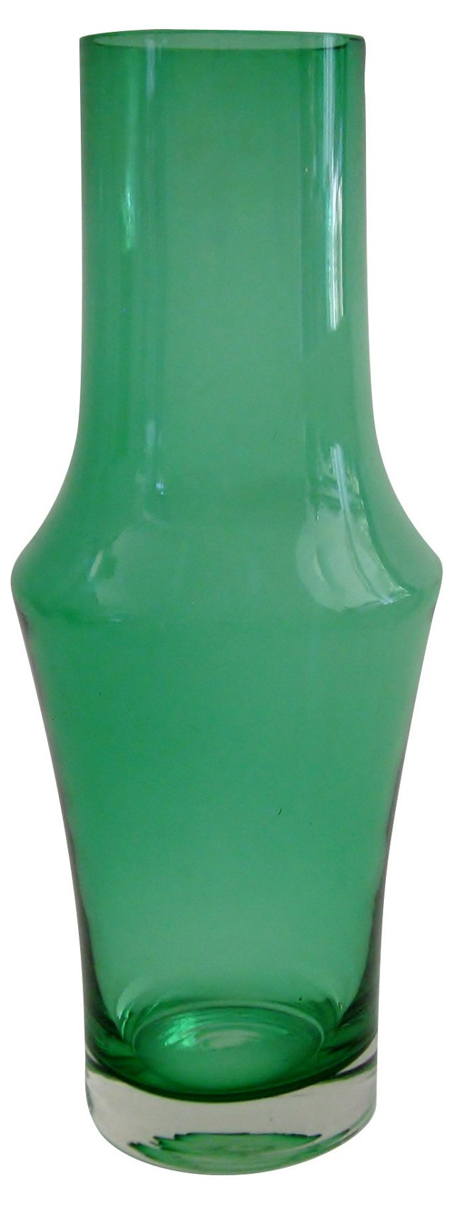 Finnish Kelly Green  Vase