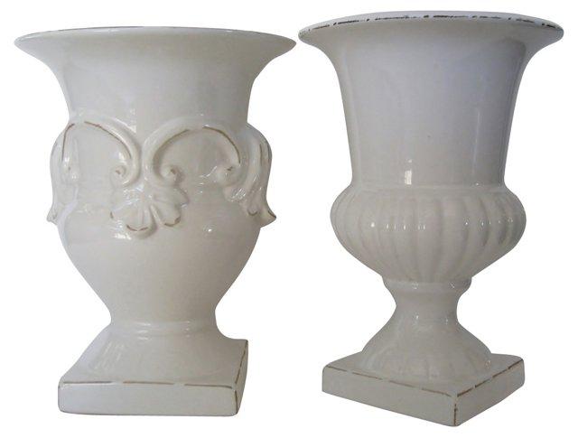 Neoclassical-Style Urn Vases, Pair