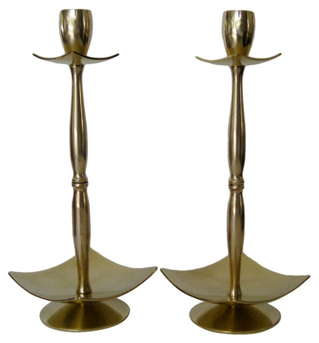 English Candlesticks, Pair