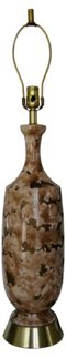 Double-Glazed Brown Ceramic Lamp