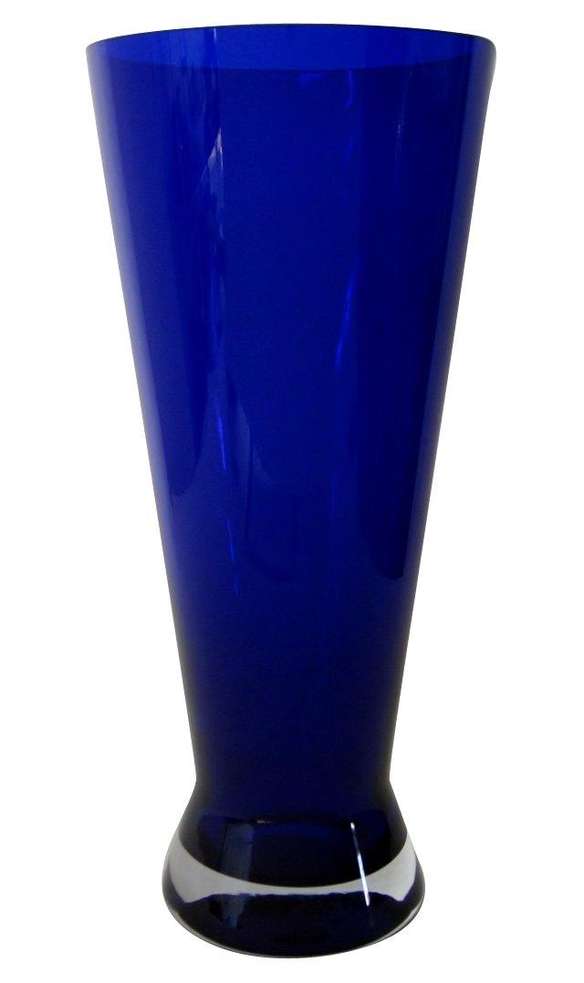 Flared Cobalt Glass Vase
