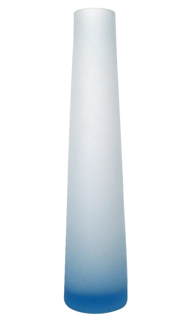 Blue Glass Cone-Shaped Vase