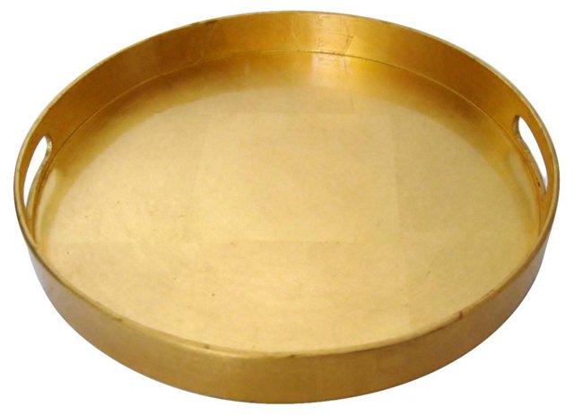 Round Gold Leaf Tray
