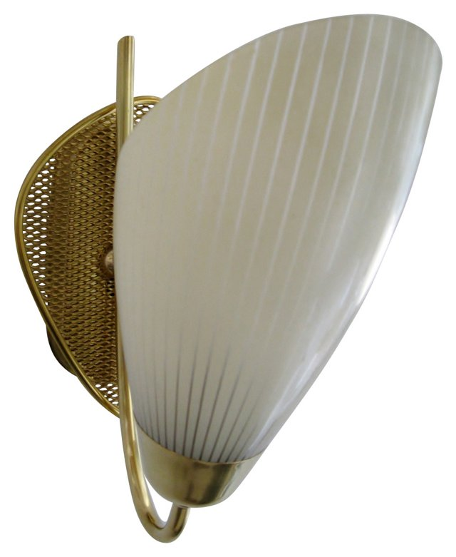Gold Mesh & Glass Sconce
