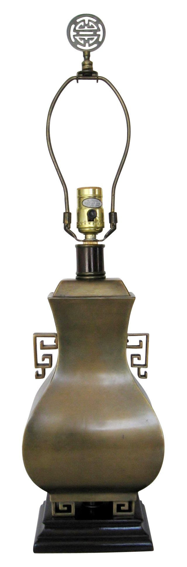 Asian-Style Brass Lamp
