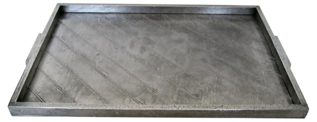 French Art Deco Aluminum Tray