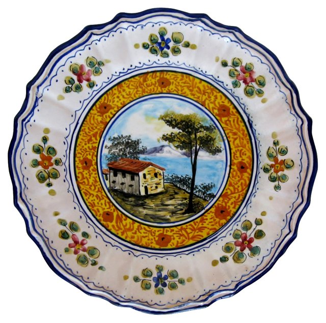 Deruta Hand-Painted Wall Plate