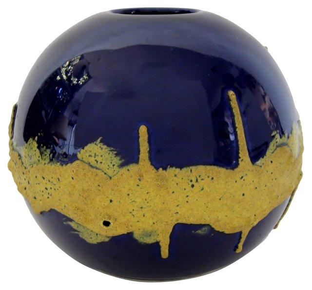 Italian Ceramic Globe Vase