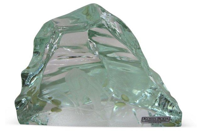 Kosta Glass Iceberg Paperweight