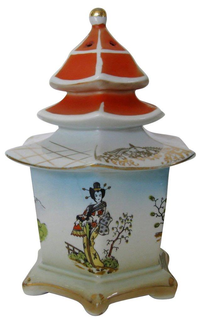 Geisha Porcelain Pagoda Lamp