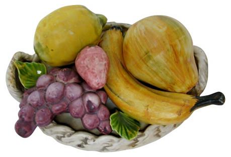 Italian Capodimonte Fruit Basket