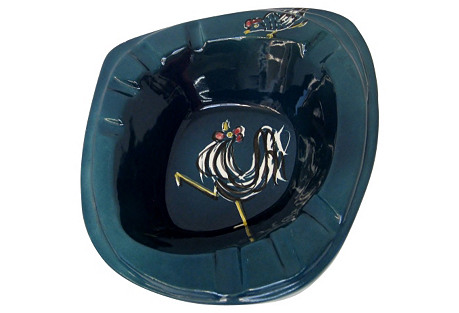 Horton Ceramics Ashtray w/ Roosters