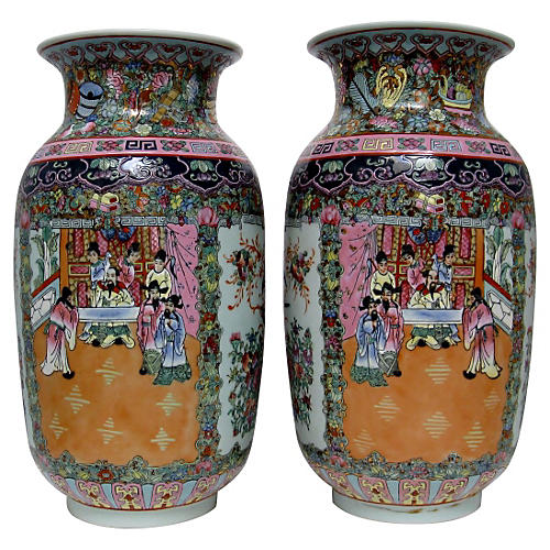 Oversize Chinese Vases, Pair