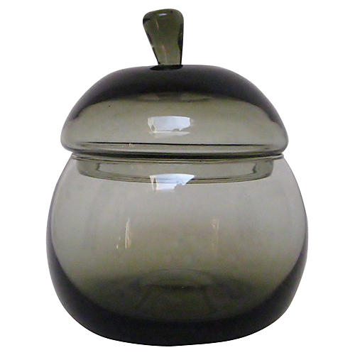 1960s German Smoke Glass Container