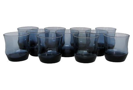 Blue Rocks Glasses, S/11