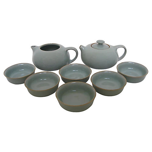 Celadon Tea Set, 8 Pcs
