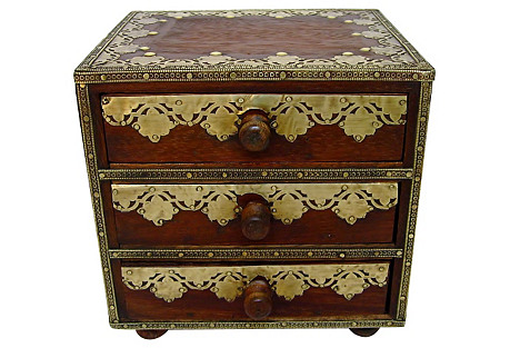 Small Wood & Brass Chest
