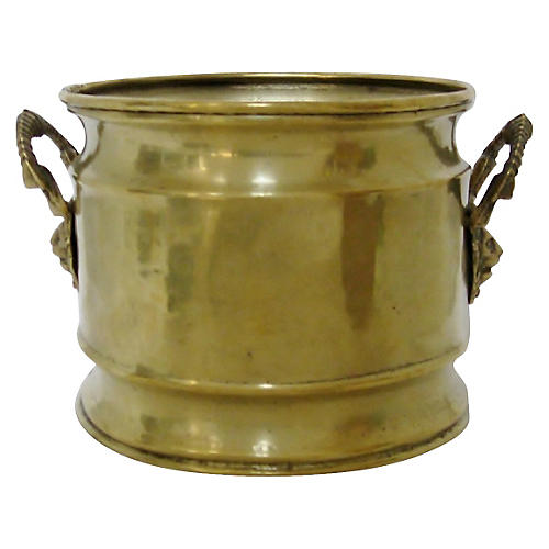 Brass Jardinière w/ Handles