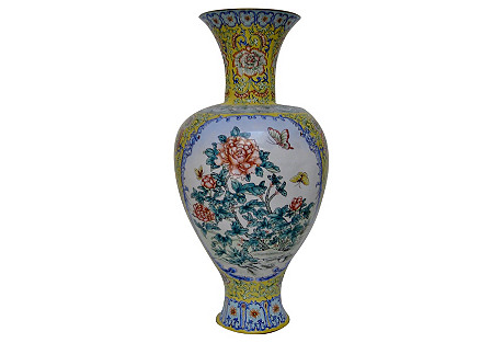 Chinese Painted Enamel Vase