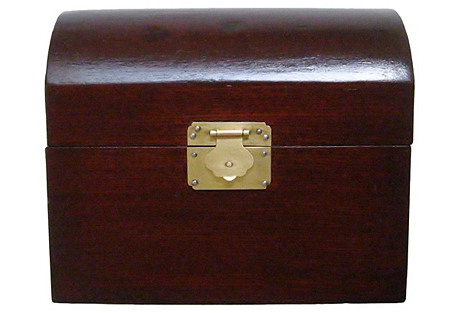 Wood Box w/ Brass Latch