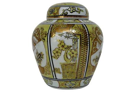 Gold Imari Ginger Jar