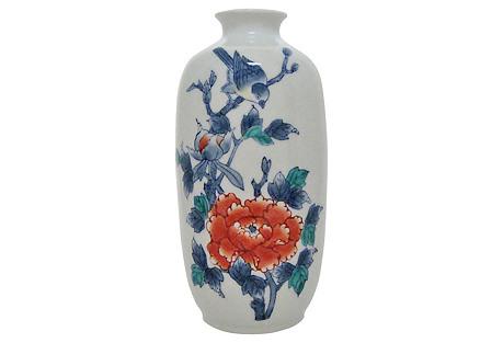 Porcelain Vase w/ Peony