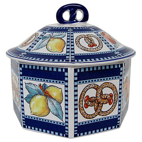 Italian Ceramic Lidded Container