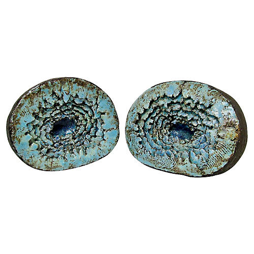 Ceramic Geode Bookends