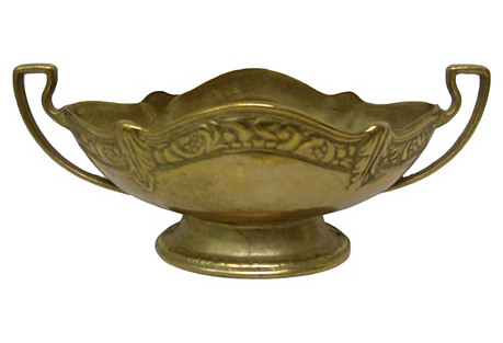 Footed Brass Console Bowl