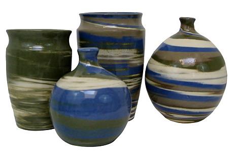 Artisan Ceramic Vessels, S/4