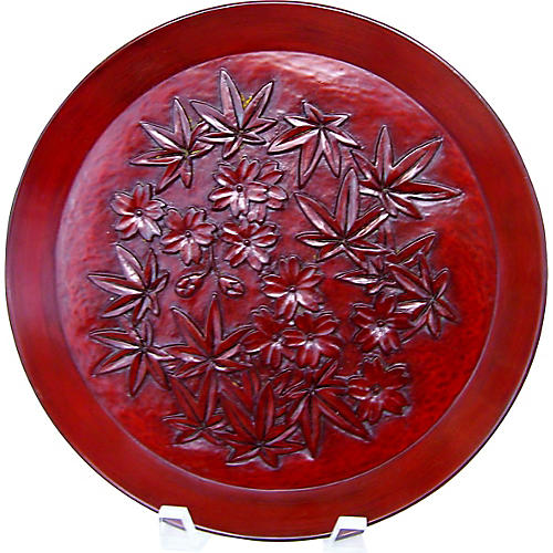 Japanese Red Lacquerware Tray