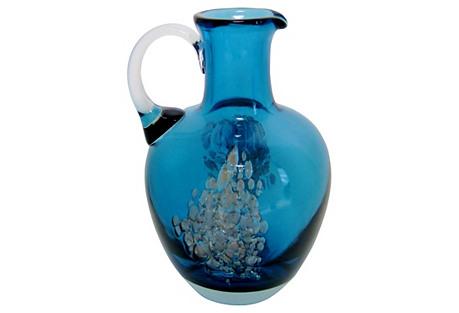 Zwiesel Peacock Glass Vase