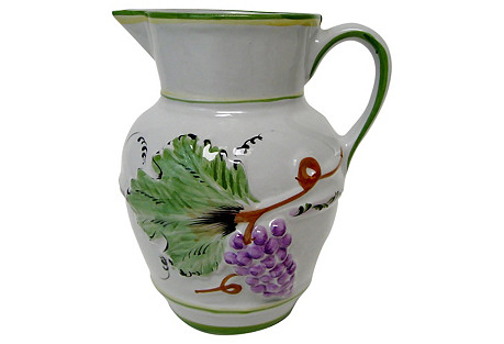 Portuguese Porcelain Pitcher