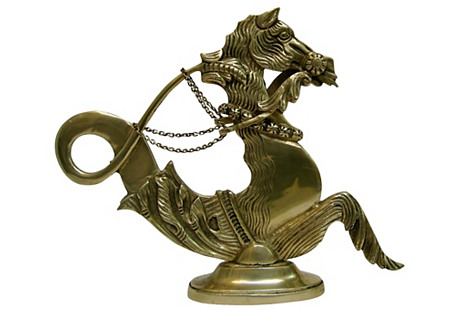 Brass Hippocampus Figure