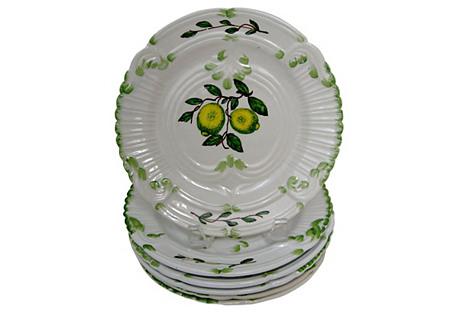 Italian Salad Plates, S/6