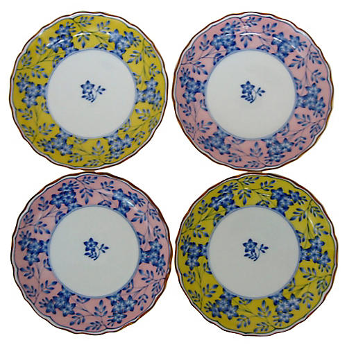 Small Porcelain Plates, Set of 4