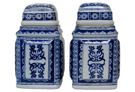 Porcelain Ginger Jars, Pair