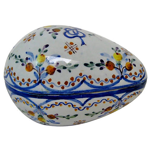 Portuguese Faience Egg Container