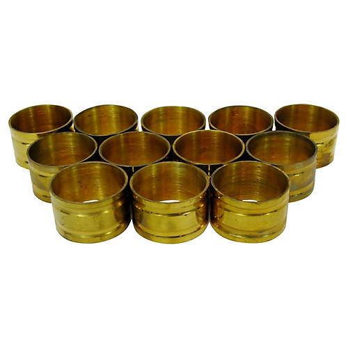 Brass Napkin Rings, S/12