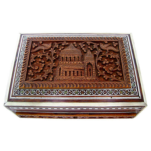 Anglo-Indian Inlay Wood Box