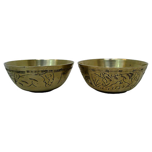 Antique Chinese Bowls, Pair